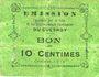 Banknoten Le Quesnoy (59). Ville et Etablissements Charitables. Billet. 10 centimes octobre 1915