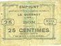 Banknoten Le Quesnoy (59). Ville et Etablissements Charitables. Billet. 25 centimes mars 1915