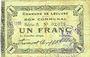 Banknoten Lécluse (59). Commune. Billet. 1 franc, série A, papier verdâtre, cachet Nov(?) 1916