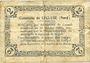 Banknoten Lécluse (59). Commune. Billet. 2 francs, série A, cachet 6 Fev 1916