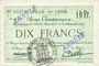 Banknoten Lens (62). Ville. Billet. 10 francs 21.12.1915, deux cachets ANNULE à l'avers et un au revers...