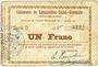 Banknoten Lesquielles-Saint-Germain (02). Commune. Billet. 1 franc 11.7.1915, série D