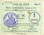 Banknoten Liévin (62). Ville. Billet. 1 franc 31.1.1915, série D1
