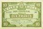 Banknoten Lille (59). Ville. Billet. 10 francs 15.12.1917, série Z