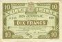 Banknoten Lille (59). Ville. Billet. 10 francs 28.11.1916, série O