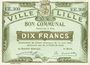 Banknoten Lille (59). Ville. Billet. 10 francs 31.8.1914, série EE