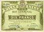 Banknoten Lille (59). Ville. Billet. 10 francs 31.8.1914, série O