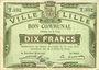 Banknoten Lille (59). Ville. Billet. 10 francs 31.8.1914, série T