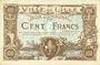 Banknoten Lille (59). Ville. Billet. 100 francs 11.4.1917, série K, annulation par double perforation