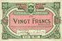 Banknoten Lille (59). Ville. Billet. 20 francs 13.7.1917, série T