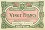 Banknoten Lille (59). Ville. Billet. 20 francs 15.12.1917, série P