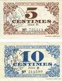 Banknoten Lille (59). Ville. Billet. 5 cmes, 10 cmes 31.10.1917, série B