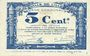 Banknoten Lille (59). Ville. Billet. 5 cmes 31.10.1917, série B