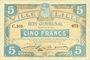 Banknoten Lille (59). Ville. Billet. 5 francs 11.4.1917, série C