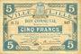 Banknoten Lille (59). Ville. Billet. 5 francs 28.11.1916, série B