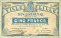 Banknoten Lille (59). Ville. Billet. 5 francs 31.8.1914, série C