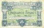 Banknoten Lille (59). Ville. Billet. 50 francs 13.7.1917, série E