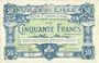 Banknoten Lille (59). Ville. Billet. 50 francs 28.11.1916, série Y