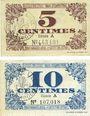 Banknoten Lille (59). Ville. Billets. 5 cmes, 10 cmes 31.10.1917, série A