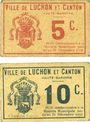 Banknoten Luchon (31). Ville et Canton. Billets. 5 centimes, 10 centimes