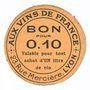 Banknoten Lyon (69). Aux vins de France. Billet. 10 centimes