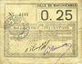 Banknoten Marchiennes (59). Ville. Billet. 25 centimes 1915
