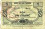 Banknoten Maroilles (59). Pour les Maires des Communes adhérentes. Billet. 1 franc 30.7.1916, série 7