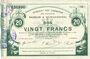 Banknoten Maubeuge & Solre-le-Château (59). Syndicat des Communes. Billet. 20 francs  18.3.1916, série 11