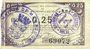 Banknoten Maubeuge & Solre-le-Château (59). Syndicat des Communes. Billet. 25 centimes 22.12.1915