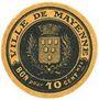 Banknoten Mayenne (53). Ville. Billet. 10 centimes