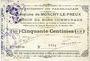 Banknoten Monchy-le-Preux (62). Commune. Billet. 50 cmes 24.10.1915, 3e série