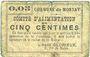 Banknoten Montay (59). Commune. Comité d'alimentation. Billet. 5 centimes
