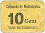Banknoten Montesquiou (32). Union des Commerçants. Billet. 10 centimes