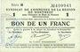 Banknoten Montmédy (55). Syndicat de Communes de la région de Montmédy. Billet. 1 franc 5 et 7.7.1916, série B