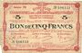 Banknoten Montmédy (55), Syndicat de Communes de la région de Montmédy, billet, 5 francs 24.5.1917, série M