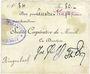Banknoten Moosch (68). Société coopérative de Moosch. Billet. 80 francs (fin 1914)