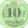 Banknoten Mouvaux (59). Ville. Billet. 10 centimes, cachet rond