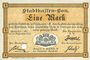 Banknoten Mulhouse (68). Ville. Billet 1 mark 10.9.1914. Annulé par perforation