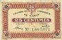Banknoten Nancy (54). Chambre de Commerce. Billet. 25 centimes