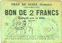 Banknoten Nesle (80). Ville. Billet. 2 francs