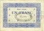 Banknoten Noeux-les-Mines (62). Cie des Mines de Vicoigne et de Noeux-les-Mines. Billet. 1 franc