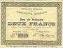 Banknoten Ohain (59). Commune. Billet. 2 francs 31.3.1915
