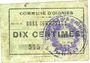 Banknoten Oignies (62). Commune. Billet. 10 centimes, série Z