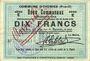 Banknoten Oignies (62). Commune. Billet. 10 francs 30.8.1914, série E, mention annulé à l'encre rouge...