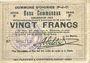 Banknoten Oignies (62). Commune. Billet. 20 francs 30.8.1914, série F