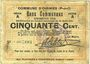 Banknoten Oignies (62). Commune. Billet. 50 centimes 30.8.1914, série A