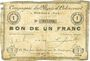 Banknoten Oignies (62). Compagnie des Mines d'Ostricourt. Billet. 1 franc
