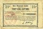 Banknoten Oisy (02). Commune. Billet. B.R.U., 25 centimes