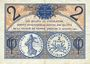 Banknoten Paris (75). Chambre de Commerce. Billet. 2 francs 10.3.1920, série A.4