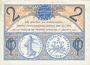 Banknoten Paris (75). Chambre de Commerce. Billet. 2 francs 10.3.1920, série A.58
